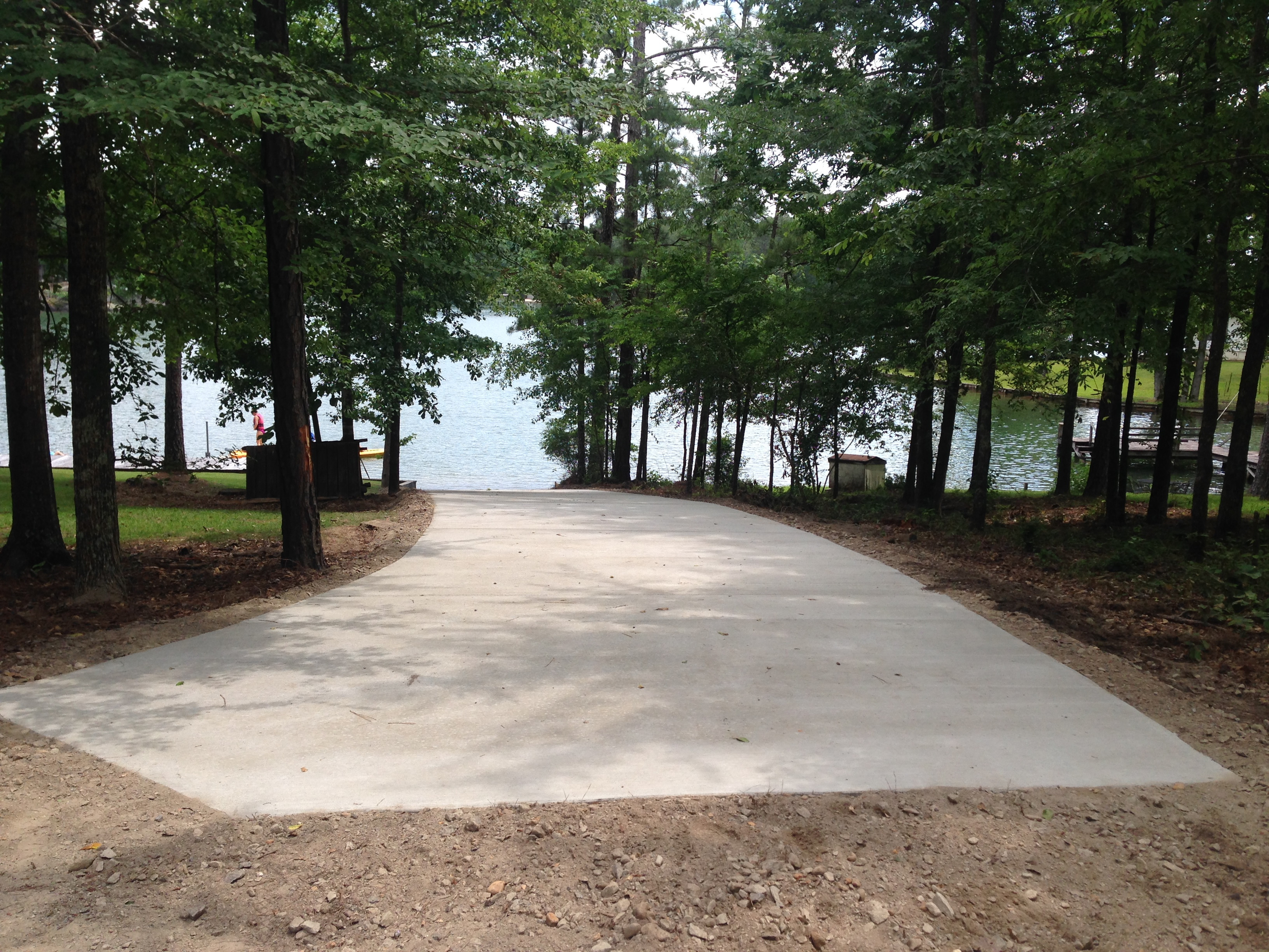 Concrete Boat Ramp Lake Martin Alabama
